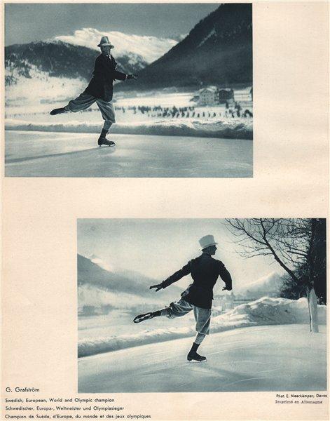 Associate Product ICE FIGURE SKATING. Gillis Grafström, Davos - Swedish & Olympic Champion 1935