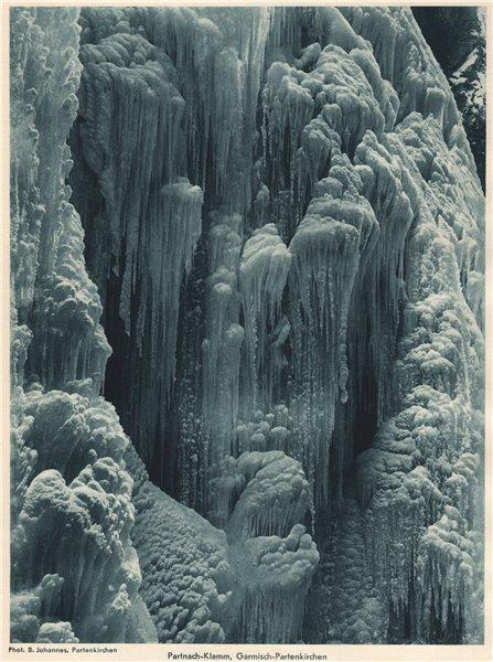 Associate Product ALPINE SCENERY. Partnach-Klamm, Garmisch-Partenkirchen 1935 old vintage print