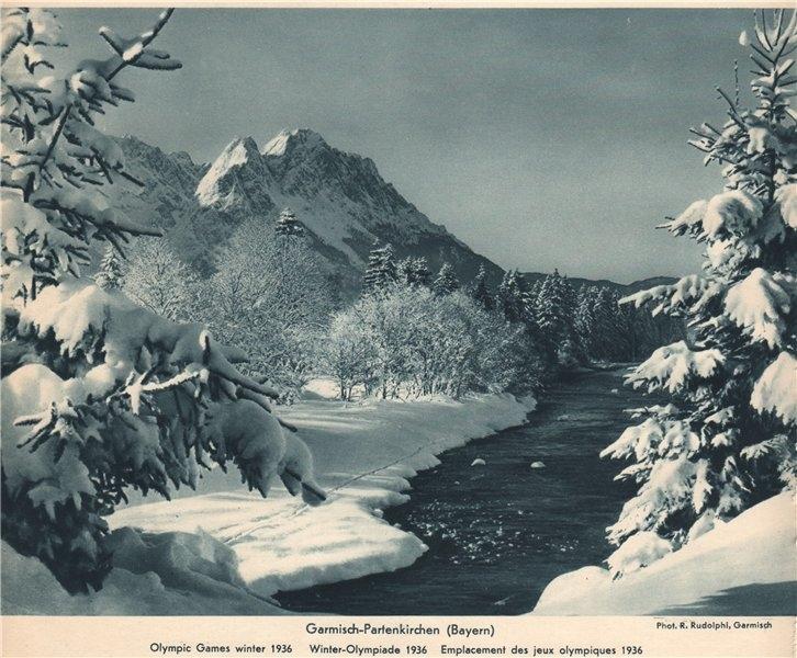 Associate Product ALPINE SCENERY. Garmisch-Partenkirchen (Bayern) - Olympic Games winter 1936 1935
