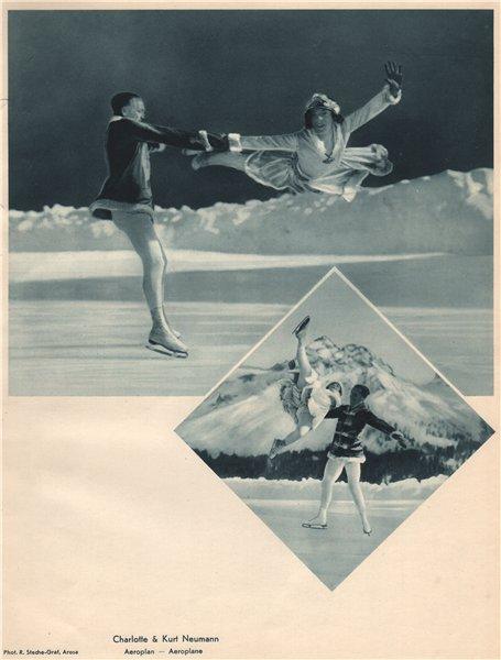 Associate Product ICE FIGURE SKATING. Charlotte & Kurt Neumann, Arosa - Aeroplan - Aeroplane 1935