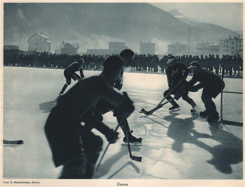 Associate Product ICE HOCKEY. Ice hockey, Davos - Eishockey Davos - Hockey sur glace (2) 1935