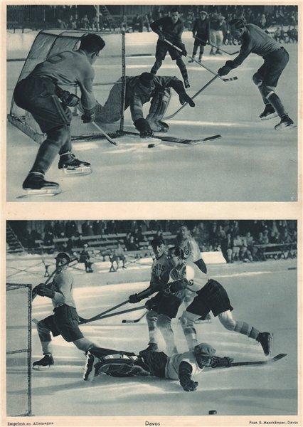Associate Product ICE HOCKEY. Ice hockey, Davos - Eishockey Davos - Hockey sur glace (3) 1935