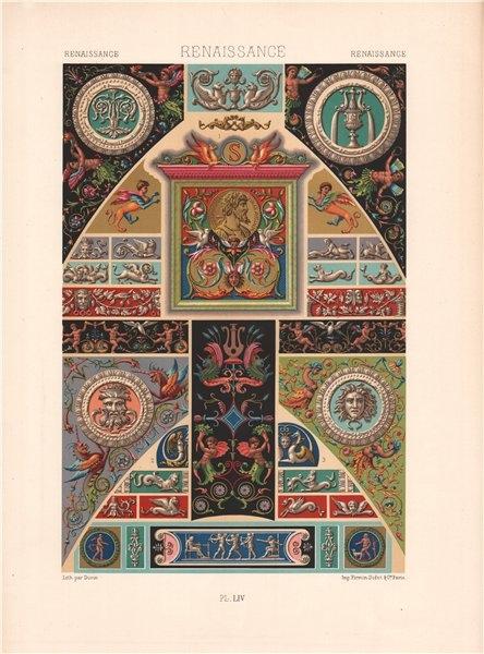 Associate Product RACINET ORNEMENT POLYCHROME 54 Renaissance decorative arts patterns motifs c1885