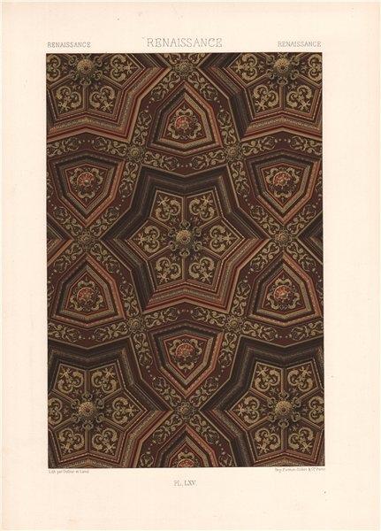 RACINET ORNEMENT POLYCHROME 65 Renaissance decorative arts patterns motifs c1885