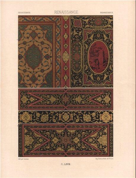 Associate Product RACINET ORNEMENT POLYCHROME 68 Renaissance decorative arts patterns motifs c1885