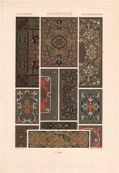 Associate Product RACINET ORNEMENT POLYCHROME 69 16th & 17th centuries arts patterns motifs c1885