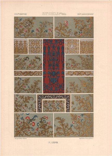 Associate Product RACINET ORNEMENT POLYCHROME 78 17th century Baroque arts patterns motifs c1885