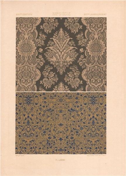 Associate Product RACINET ORNEMENT POLYCHROME 85 17th century Baroque arts patterns motifs c1885