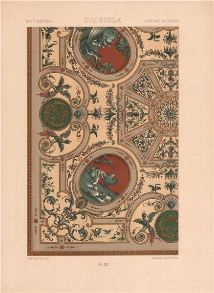 Associate Product RACINET ORNEMENT POLYCHROME 90 18th century Rococo arts patterns motifs c1885