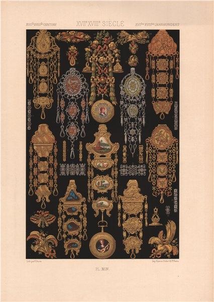 Associate Product RACINET ORNEMENT POLYCHROME 94 17th/18th century Rococo art pattern motif c1885