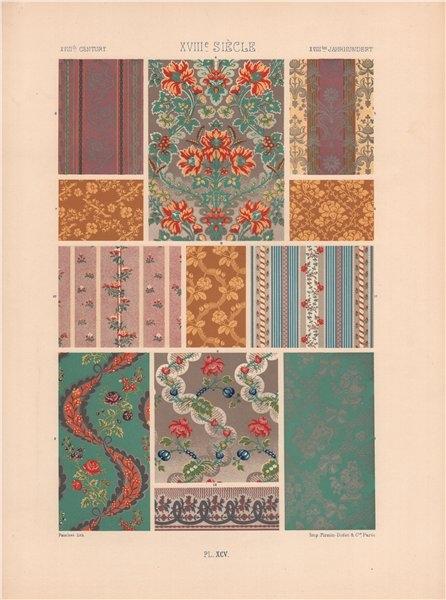 Associate Product RACINET ORNEMENT POLYCHROME 95 18th century Rococo arts patterns motifs c1885