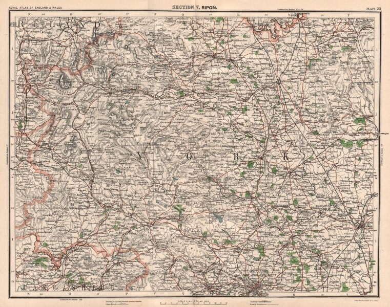 Associate Product YORKSHIRE DALES & NIDDERDALE. Harrogate York Forest of Bowland Richmond 1898 map