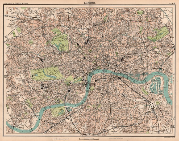 Associate Product LONDON antique town city plan. BARTHOLOMEW 1898 old map chart