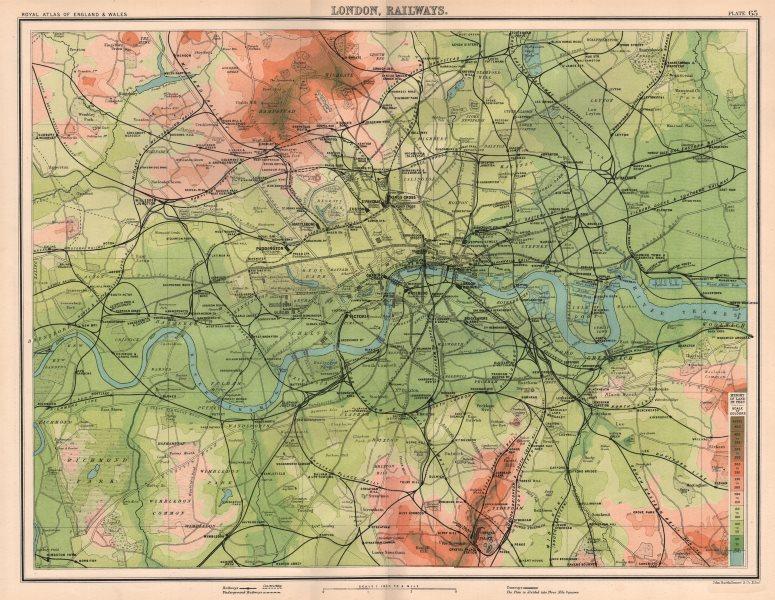 Associate Product LONDON RAILWAYS antique town city plan. BARTHOLOMEW 1898 old map chart