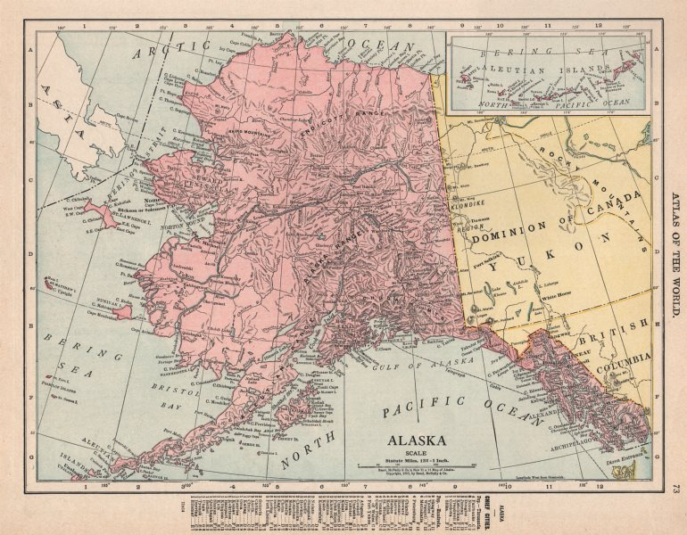 Associate Product Alaska state map showing boroughs. Pre-Anchorage. RAND MCNALLY 1912 old
