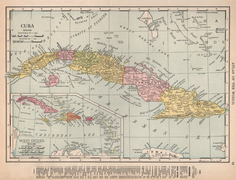 Associate Product Cuba showing provinces. RAND MCNALLY 1912 old antique vintage map plan chart