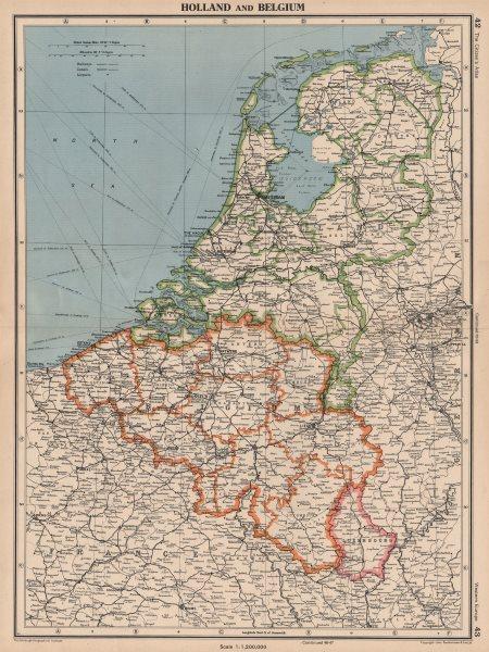 Associate Product BENELUX. Netherlands shows Noordoostpolder under construction 1944 map