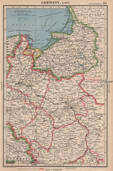 Ww2 Poland Showing 1939 Germany Ussr Partition Line Danzig Free