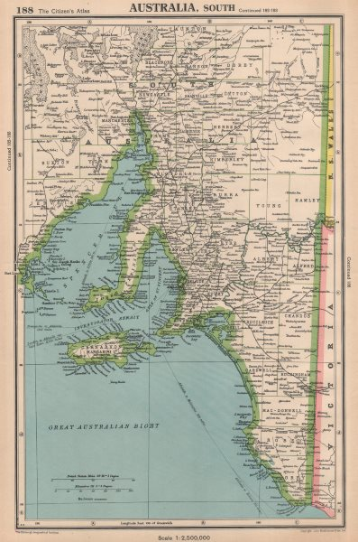 Associate Product SOUTH AUSTRALIA shows counties Spencer Gulf of St Vincent. BARTHOLOMEW 1944 map