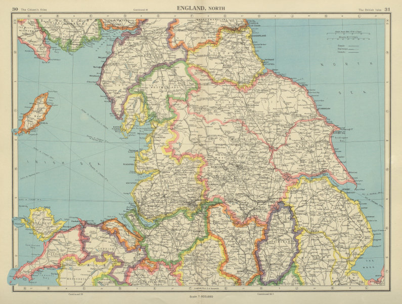 Associate Product N ENGLAND. Lincolnshire parts. Lindsey Holland Kesteven. Yorks Ridings 1947 map