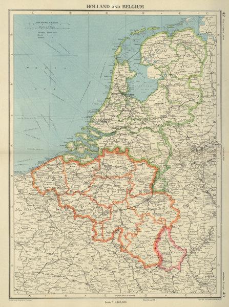 Associate Product BENELUX. Netherlands shows Noordoostpolder under construction 1947 map