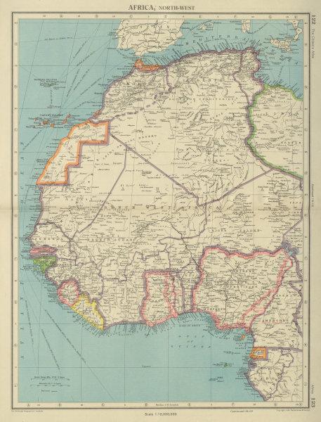 Associate Product WEST AFRICA. British Cameroons & Togoland mandates. Gold Coast Nigeria 1947 map