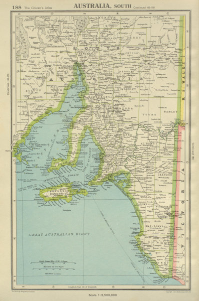 Associate Product SOUTH AUSTRALIA shows counties Spencer Gulf of St Vincent. BARTHOLOMEW 1947 map