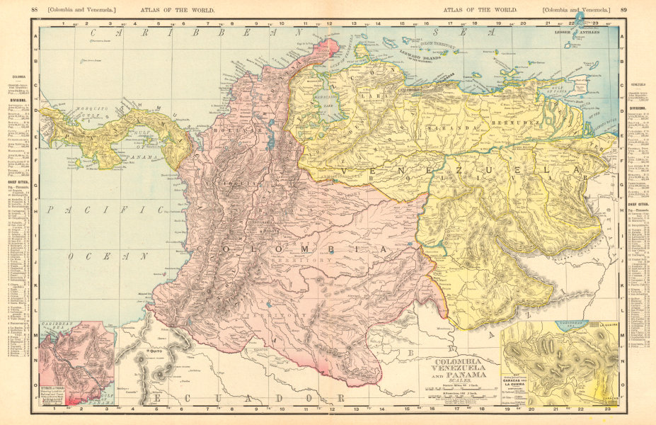 Associate Product Colombia, Venezuela & Panama. Andean States. RAND MCNALLY 1906 old antique map