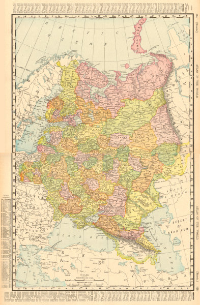 Associate Product RUSSIA IN EUROPE. Poland Ukraine Caucasus Finland. RAND MCNALLY 1906 old map