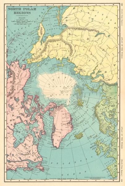 Associate Product NORTH POLAR POLE REGIONS. Arctic. Nansen Cagni Abruzzi. RAND MCNALLY 1906 map