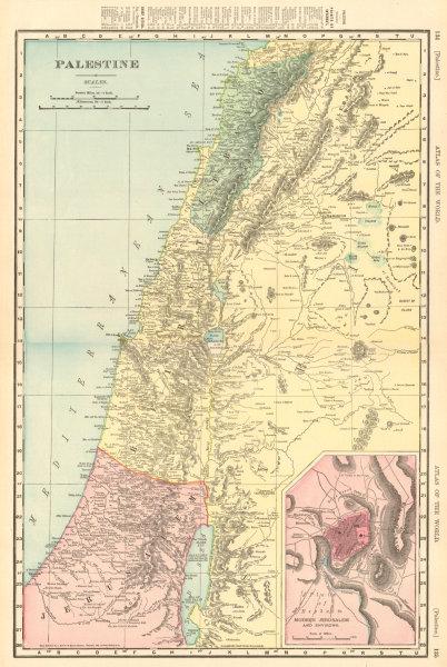 Associate Product PALESTINE Holy Land Israel Lebanon Syria Jordan Jerusalem. RAND MCNALLY 1906 map