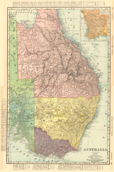 Associate Product Eastern AUSTRALIA. Queensland Victoria New South Wales. RAND MCNALLY 1906 map