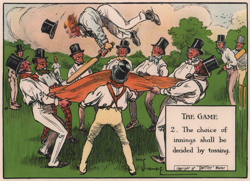 LAWS OF CRICKET. The choice of innings shall be decided by tossing. CROMBIE 1906