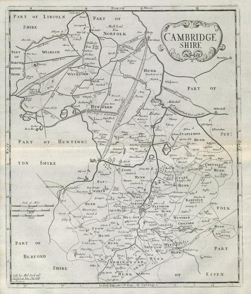 Associate Product CAMBRIDGESHIRE by ROBERT MORDEN from Camden's Britannia 1722 old antique map