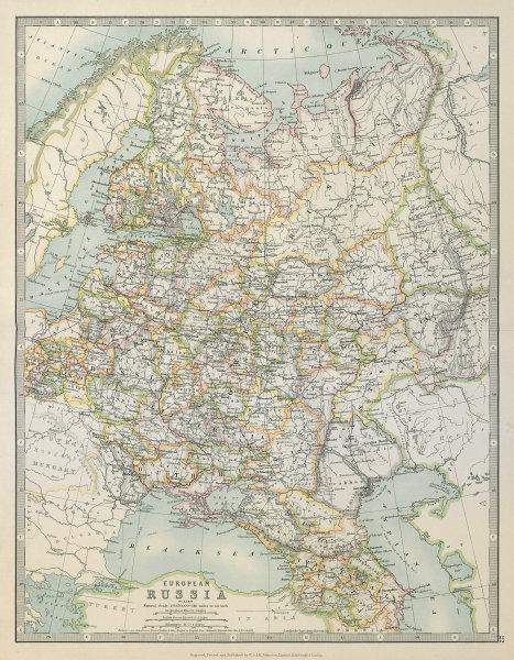 Associate Product EUROPEAN RUSSIA. 1812 Napoleonic battlefields are marked. JOHNSTON 1915 map