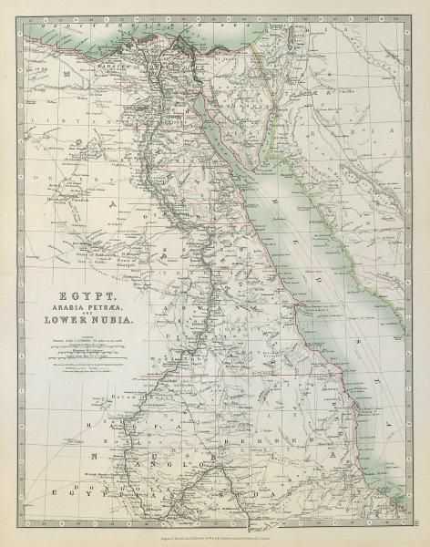 Associate Product EGYPT ARABIA PETRAEA LOWER NUBIA. Nile Valley Red Sea Sharm El Sheikh 1915 map