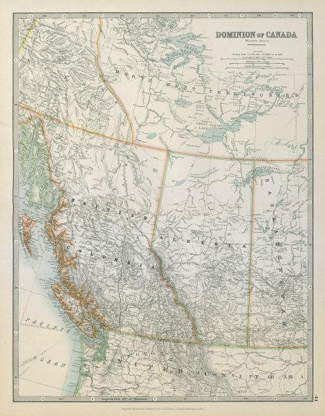 Associate Product BRITISH COLUMBIA & ALBERTA. Railways. Vancouver Island. JOHNSTON 1915 old map