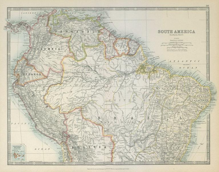 Associate Product SOUTH AMERICA NORTH. Peru/Ecuador borders as pre 1941 war. JOHNSTON 1915 map