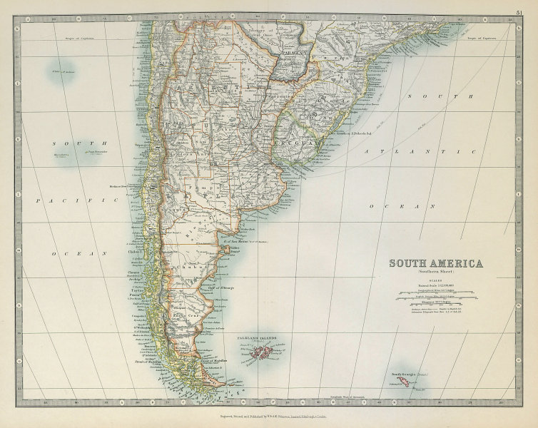 Associate Product SOUTH AMERICA. Shows ignored 1897 Paraguay/Bolivia border. JOHNSTON 1915 map