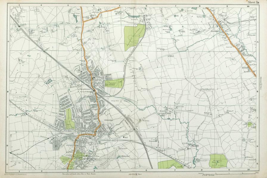 Associate Product STANMORE Wealdstone Edgware Pinner North Harrow Kenton The Hyde. BACON 1920 map
