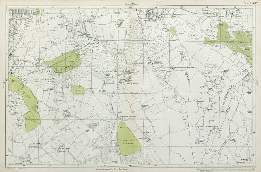 Associate Product EAST CROYDON Selsdon West Wickham New Addington Hayes Shirley. BACON 1920 map