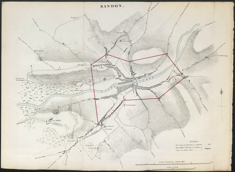 Associate Product BANDON town/borough plan. REFORM ACT. County Cork. Munster 1832 old map