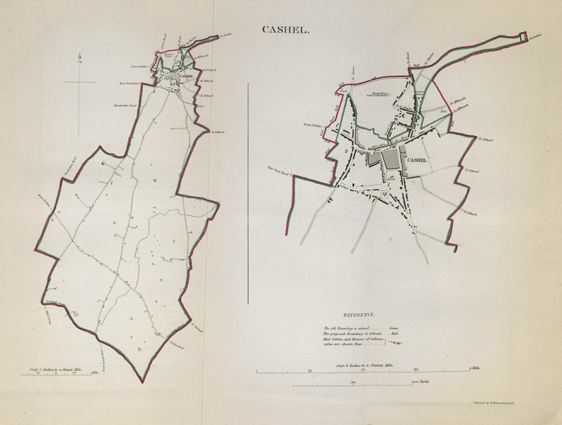 Associate Product CASHEL town/borough plan. REFORM ACT. County Tipperary. Munster 1832 old map