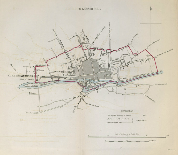 Associate Product CLONMEL town/borough plan. REFORM ACT. County Tipperary. Munster 1832 old map