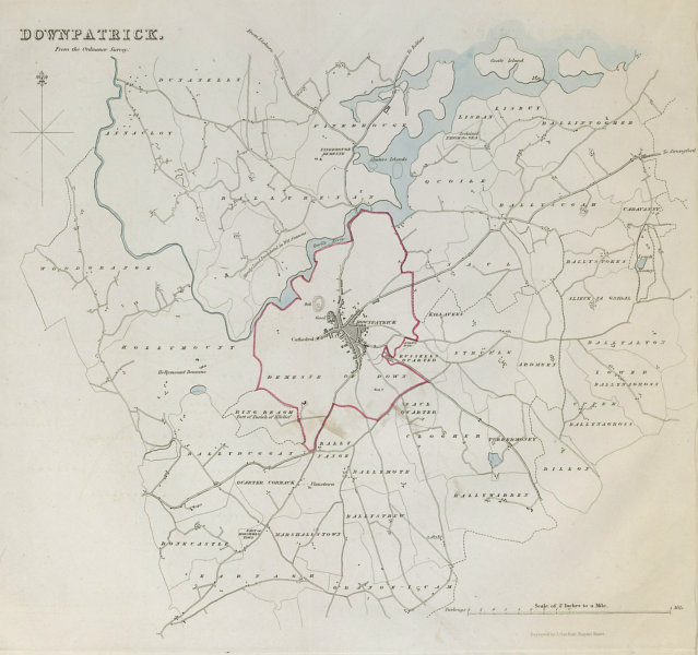 Associate Product DOWNPATRICK town/borough plan. REFORM ACT. County Down. Ulster 1832 old map