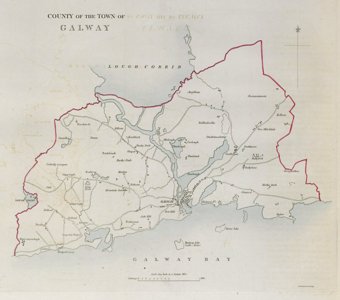 Associate Product 'COUNTY OF THE TOWN OF GALWAY' borough plan. REFORM ACT. Connaught 1832 map