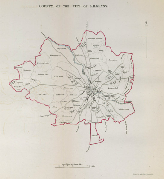 Associate Product 'COUNTY OF THE CITY OF KILKENNY' town/borough plan. REFORM ACT Leinster 1832 map