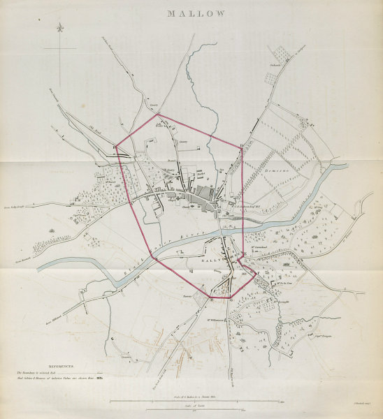 Associate Product MALLOW town/borough plan. REFORM ACT. County Cork. Munster 1832 old map