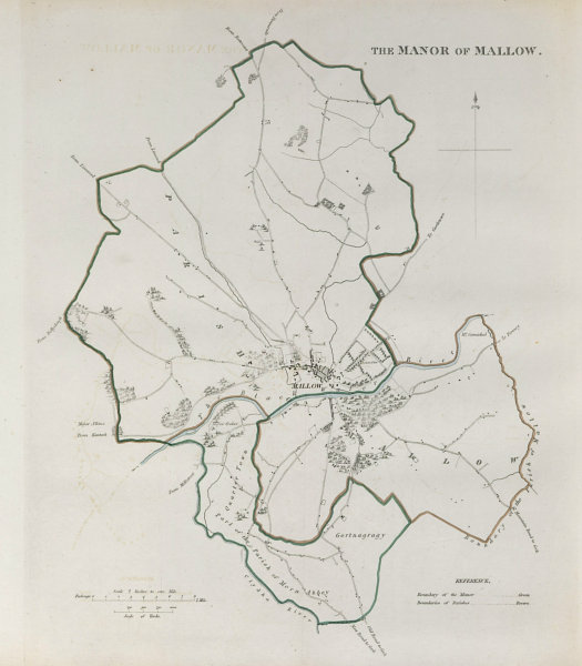 Associate Product 'THE MANOR OF MALLOW' town/borough plan. REFORM ACT. Co. Cork. Munster 1832 map