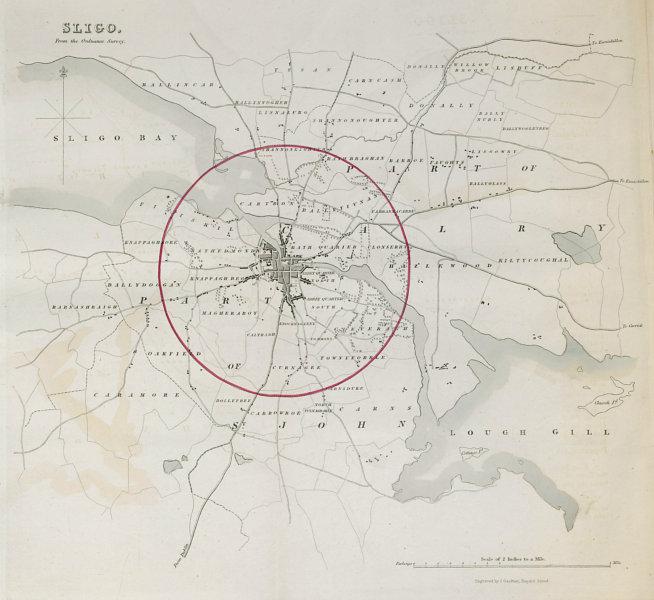 Associate Product SLIGO town/borough plan. REFORM ACT. Connaught 1832 old antique map chart